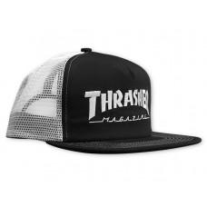 Gorra Thrasher Logo Mesh Cap Negra Blanca