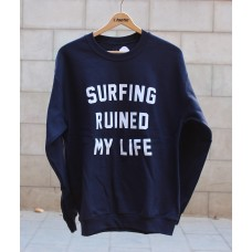 Sudadera Tactic Surfing Ruined My Life Azul