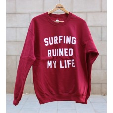 Sudadera Tactic Surfing Ruined My Life Roja