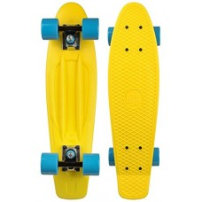 Mini Longboard Completo Long Island Buddy Amarillo 22''