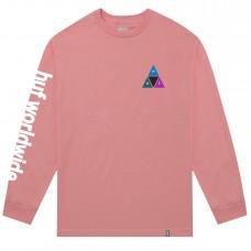Camiseta Manga Larga Huf Prism Triple Triangle Salmón