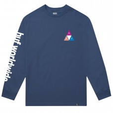 Camiseta Manga Larga Huf Prism Triple Triangle Navy