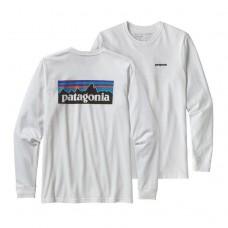 Camiseta Manga Larga Patagonia P-6 Logo Blanca