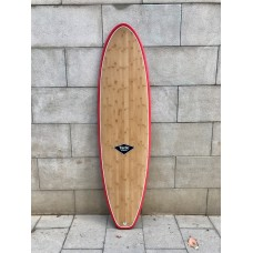 Tabla Surf Tactic Evolutiva Epoxy Bamboo 6'8 Roja