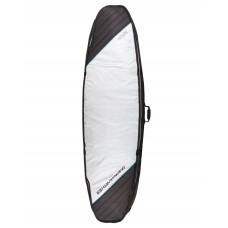 Funda Surf Ocean Earth Double Compact 6'4 Plata Negra