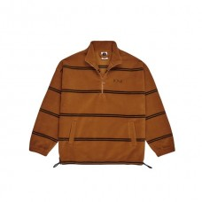 Sudadera Polar Striped Fleece Pullover Marrón