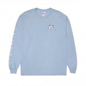 Camiseta Manga Larga Rip N Dip Lord Nermal Baby Blue