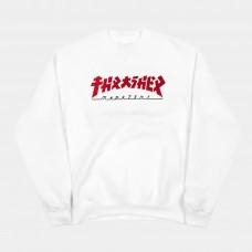 Sudadera Thrasher Godzilla Blanca