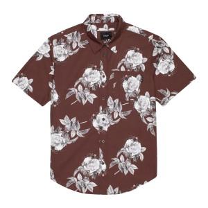 Camisa HUF Widower Woven Shirt Granate