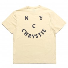Camiseta Manga Corta Chrystie New York Smile Logo Crema