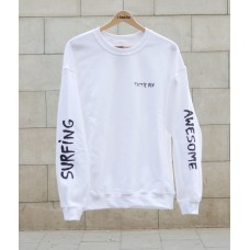Sudadera Tactic Surfing Awesome Blanca