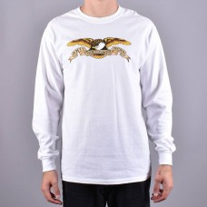 Camiseta Manga Larga Anti Hero Eagle Blanca