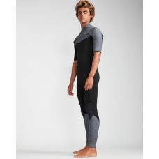 Traje de Neopreno Billabong Absolute 2mm manga corta Negro Gris