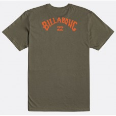 Camiseta Manga Corta Billabong Arch Wave Military