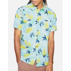Camisa Manga Corta Hurley Org Birdrock SS Glacier Blue