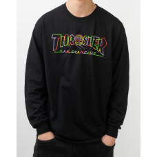 Camiseta Manga Larga Thrasher Cable Car Negra