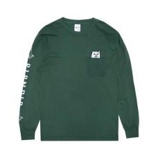 Camiseta Manga Larga Rip N Dip Nermal Pocket Verde