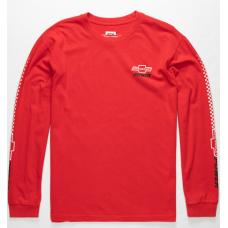 Camiseta Manga Larga Brixton X Chevrolet Brickyard Roja
