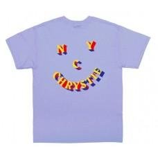 Camiseta Manga Corta Chrystie New York 3D Smile Logo Lila