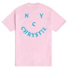 Camiseta Manga Corta Chrystie New York Smile Logo Rosa