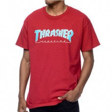 Camiseta Manga Corta Thrasher Outlined Granate