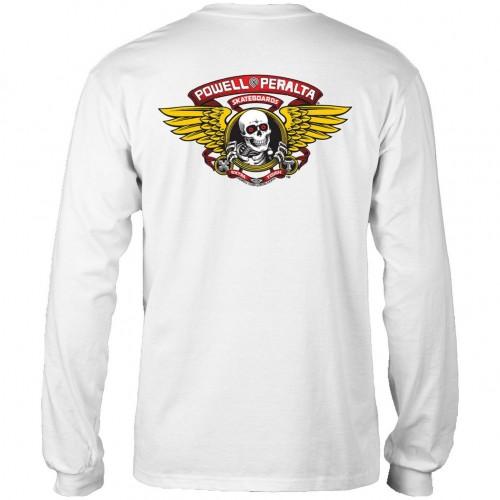 Camiseta Manga Larga Powell Peralta Winged Ripper Blanca