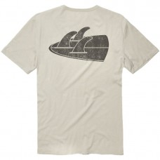 Camiseta Manga Corta Vissla Backwards Fin Beach Grit Vintage
