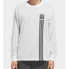 Camiseta Manga Larga Adidas LS Rev Mesh Tee Blanca