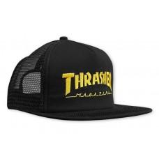 Gorra Thrasher Logo Mesh Cap Negra Amarilla