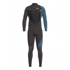 Traje Neopreno Quiksilver Highline 4'3 Chest Zip Jet Black/Blue 2019