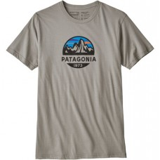 Camiseta Manga Corta Patagonia Fitz Roy Scope Organic Gris