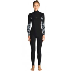 Traje Neopreno Rip Curl Flash Bomb 4'3 Chest Zip Floral Negro 2019