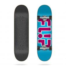 Tabla Skate Completa Flip Team Outlined Light Blue 7.25''