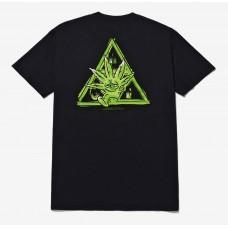 Camiseta Manga Corta HUF Green Buddy Negra