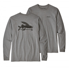 Camiseta Manga Larga Patagonia Flying Fish Gris