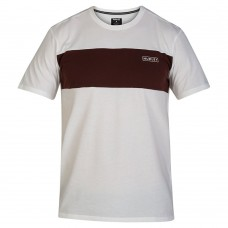 Camiseta Manga Corta Hurley Dri Fit Blocked Blanca Granate