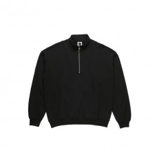 Sudadera Polar Zip Neck Negra
