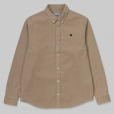 Camisa Manga Larga Carhartt L/S Madison Cord Marrón
