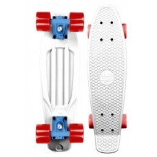 Mini Longboard Completo Long Island Buddy Blanco 22''