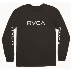 Camiseta Manga Larga RVCA Big Negra