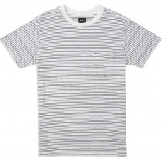 Camiseta Manga Corta RVCA Warren Striped Blanca