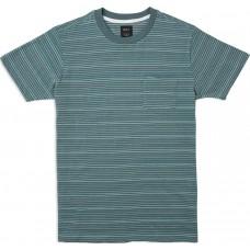 Camiseta Manga Corta RVCA Warren Striped Verde