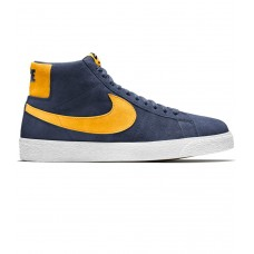Zapatillas Nike SB Zoom Blazer Mid Azules Amarillas