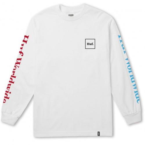 HUF DOMESTIC TEE - Camiseta manga larga - white JOpdbDmiSh