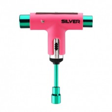 Llave Skateboard Silver Pink.