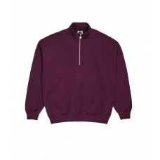 Sudadera Polar Zip Neck Granate
