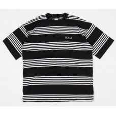 Camiseta Manga Corta Polar Striped Surf Negra