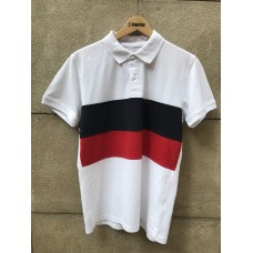 Polo Tactic Stripes Azul Rojo