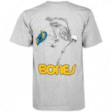 Camiseta Manga Corta Powell Peralta Skateboard Skeleton Gris