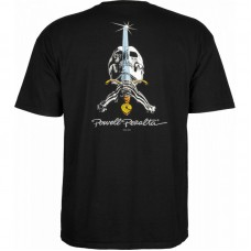 Camiseta Manga Corta Powell Peralta Skull Sword Negra